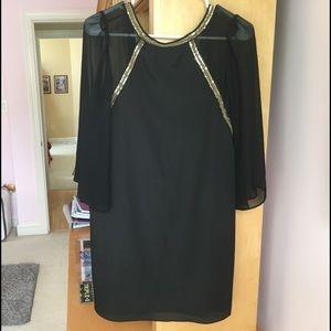 Black BCBGeneration dress with deep V back